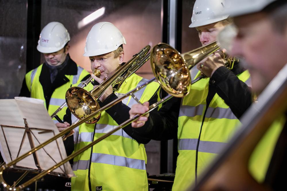 Copenhagen Phil i den ufærdige metro under Nørrebros Runddel