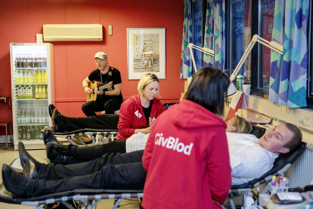 Rasmus Hedeboe i blodbanken på Frederiksberg