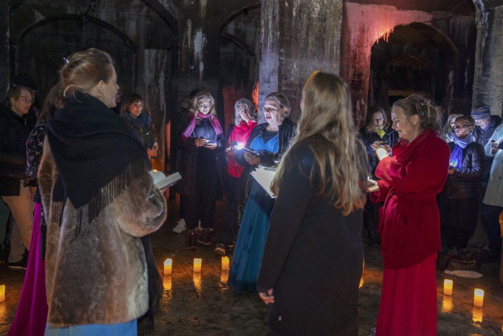 Fællessang i Cisternerne på Frederiksberg