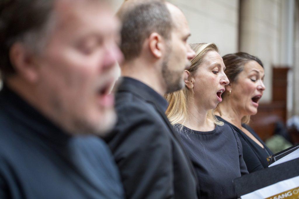 Sangere fra Dansk Korforbund gæster Københavns Rådhus